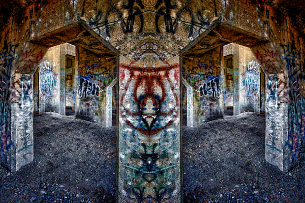 Graffiti Underground At An Angle Fine Art Photograph | JustBob Images