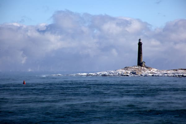 Lighthouse Sea Smoke Twinlights Thathers Island Ice Northlight