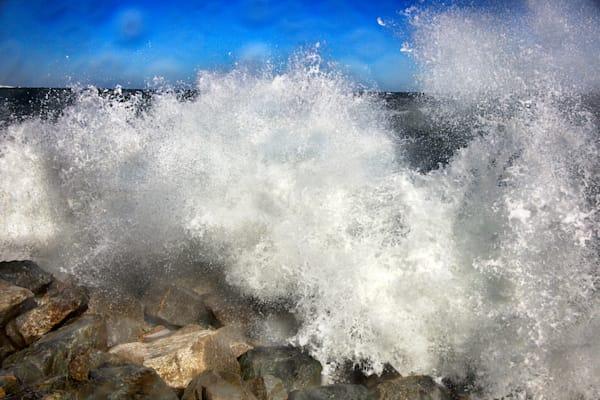 Splash Crashing Wave Rocks