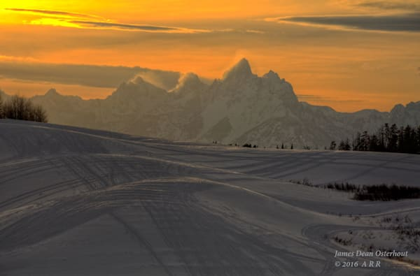Tetons,sunset,WYOMING,snow,togwotee