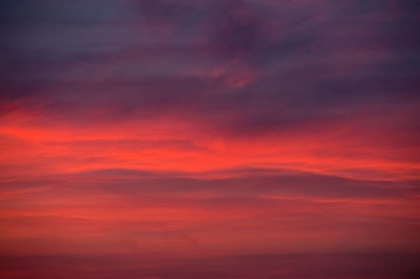 Fine art print of red clouds