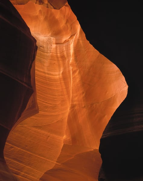 Fluted sandstone in Antelope Slot Canyon, northern Arizona,