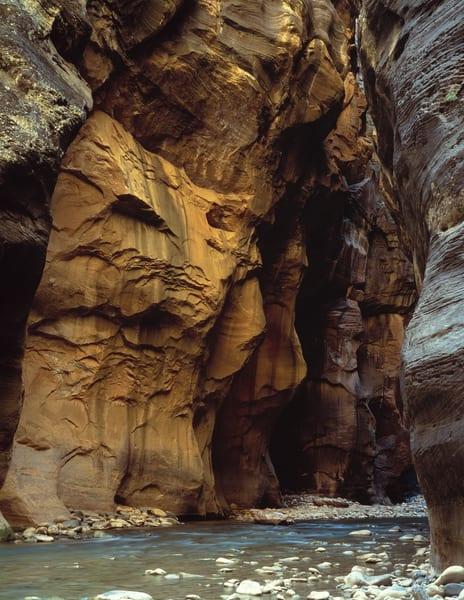"The Virgin river  in ""The Narrows"", Zion National Park, Utah"