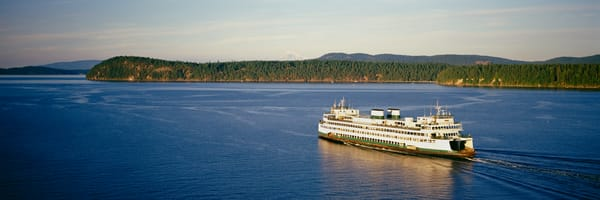 Ferry boat in the San Juan Islands