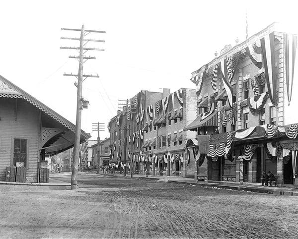 Bicentenial Celebration On Railroad Street