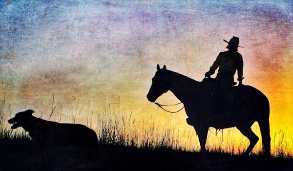 Susan Shoemaker Silhouette - Harmony Ranch  Sunset Ride