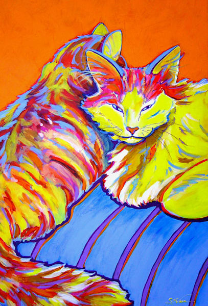 Cat Naps | Sally C. Evans Fine Art