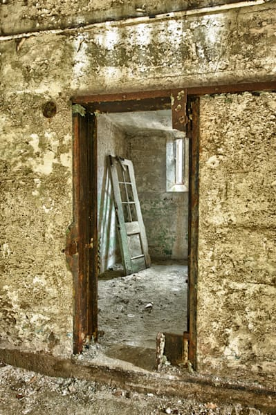 Framed Door and Shadow Fine Art Photograph | JustBob Images
