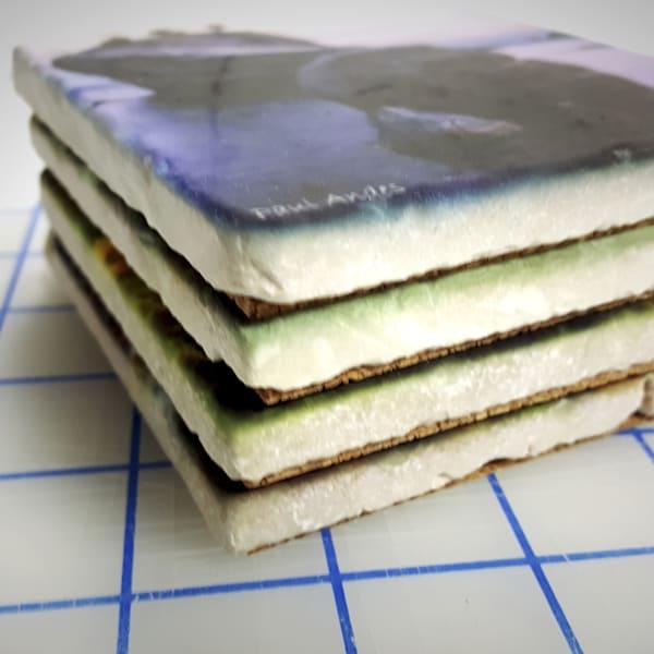 6x6 Stone Tile Coasters - Set of 4