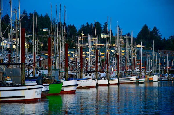 Early evening boats in Newport, Oregon.
