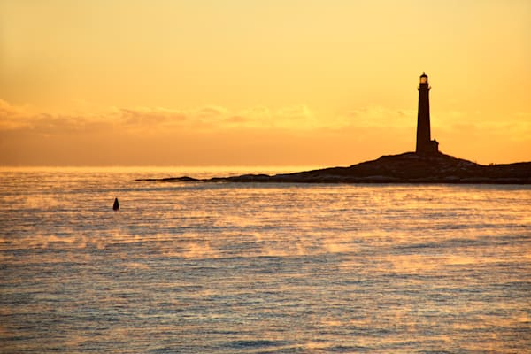 Lighthouse Sea Smoke Twinlights Sunrise Northlight Thacher Island