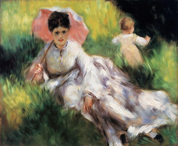 Women With A Parasol & A Small Child, MASCOL90339