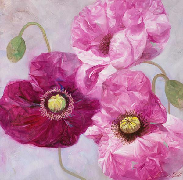 Purple Poppies I, LIBO110033