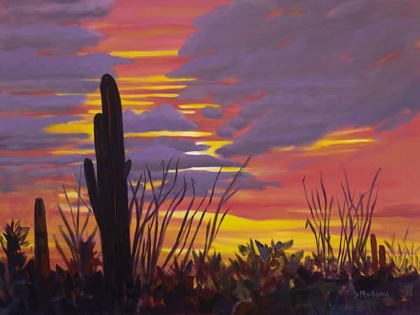 Sunset at White Stallion Ranch | Art Gallery Tucson | Madaras