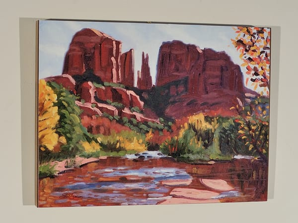 Cathedral Rock on Wood Panel