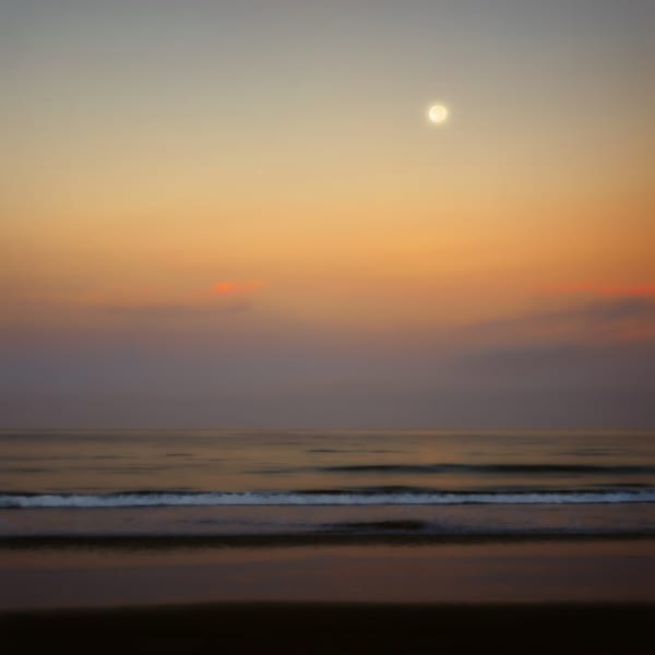 Coastal Moonset Sunrise