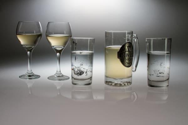 A Romantic Wine Glass Reflection Fine Art Photograph by Michael Pucciarelli