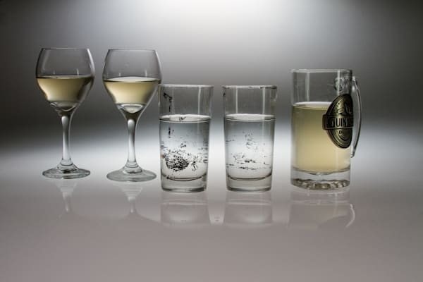 Fine Art Photographs of Romantic Drinking Glasses and Reflections, by Michael Pucciarelli