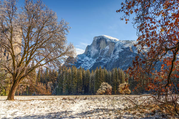 Fall  meets Winter at Half Dome
