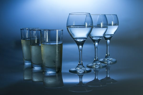 Fine Art Photographs of Drinking Glasses with Reflection by Michael Pucciarelli