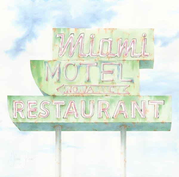 Miami Motel Art | Hillary Parker Watercolors