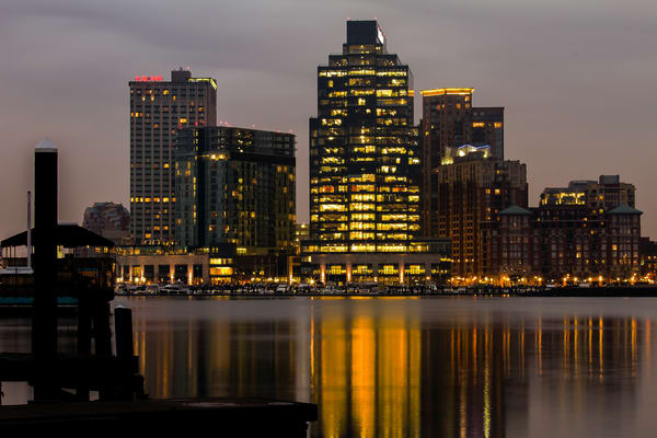Fine Art Photograph of Baltimore Reflection by Michael Pucciarelli