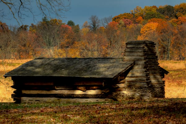 Fine Art Photograph of Historic Valley Forge Hut by Michael Pucciarelli