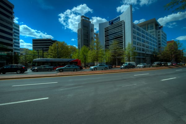 A Fine Art Photograph of Silver Spring Rush Hour by Michael Pucciarelli