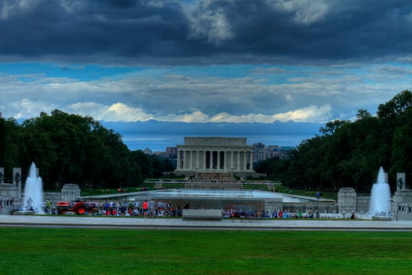 A Dramatic Lincoln Memorial Fine Art Photograph by Michael Pucciarelli