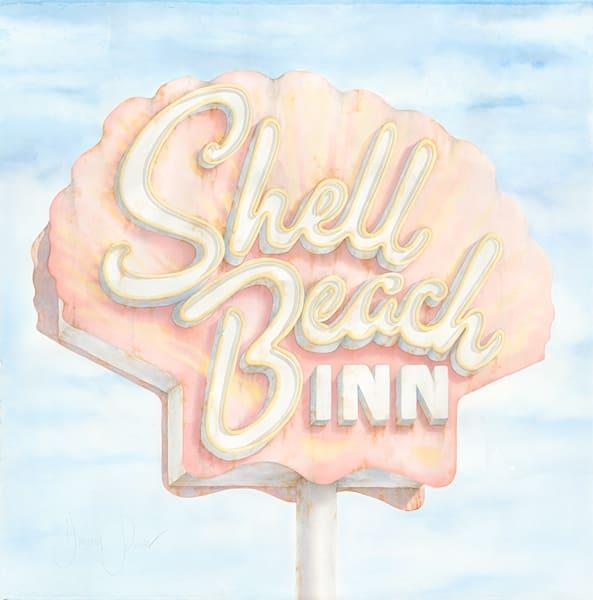 Shell Beach Inn Art | Hillary Parker Watercolors