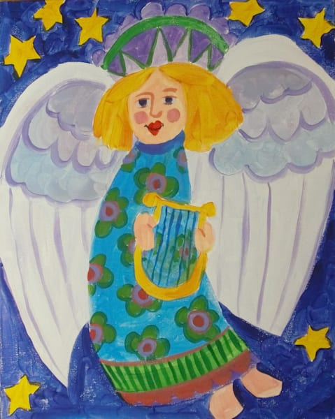"""Angel With Harp"" by Jean Pierre DeBernay 