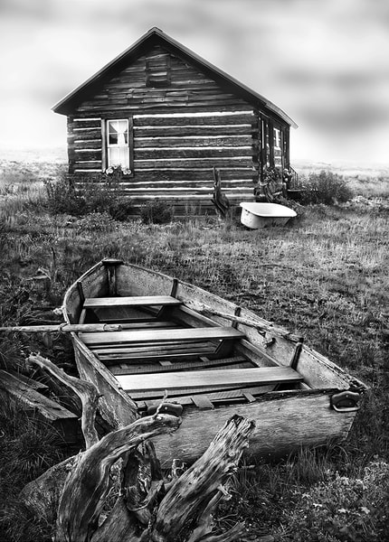 Americana fine art black and white photograph: Be Pepared, Red Feather Lakes, Colorado by fine art photographer, David Zlotky