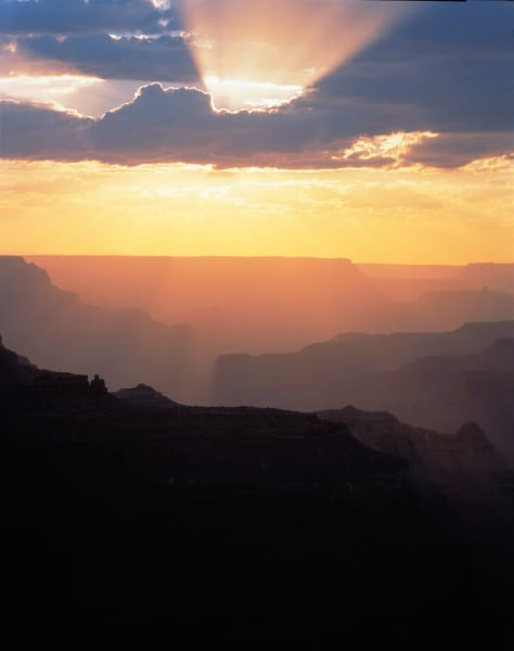Sun burst at Grand Canyon