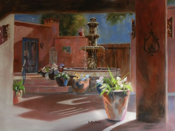 Moonlit Courtyard | Southwest Art Gallery Tucson | Madaras