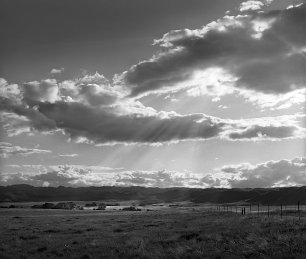 God Rays, Northern Colorado - bw