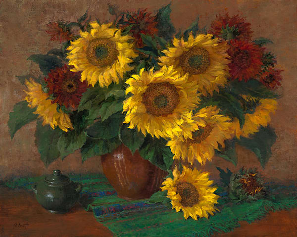 Mammoth Sunflowers in Vase, Jo Anna Arnett