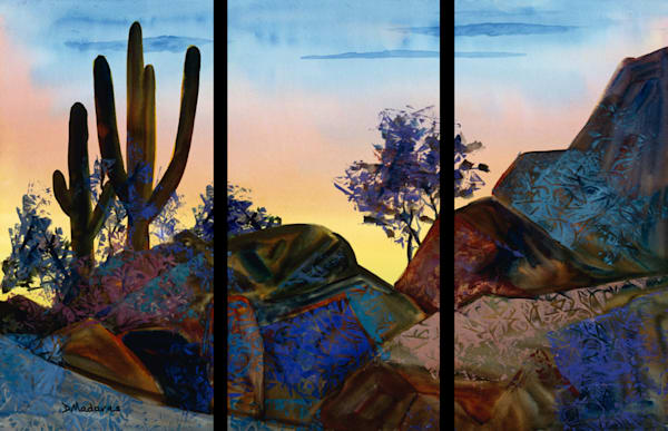Silhouette Triptych | Southwest Art Gallery Tucson | Madaras
