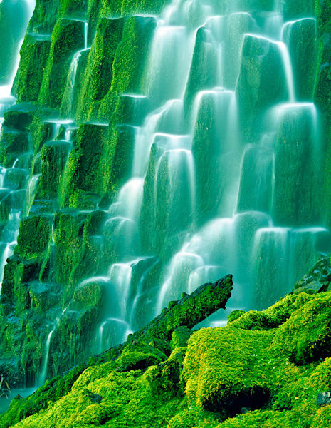 Green Waterfalls Steps