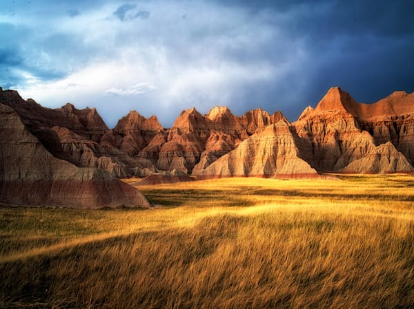 Grass Meadow in Badlands National Park