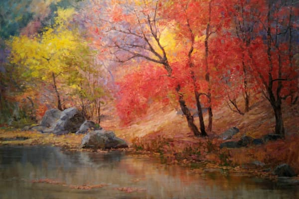 Landscape water painting Wallis