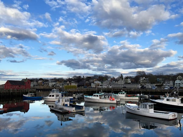 Clouds, Reflections, Rockport Harbor, Motif 1