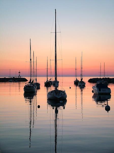 Sailboats, Sunrise, Rockport Harbor