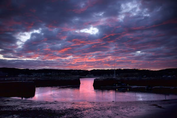 Purple Clouds, Sunet, Rockport, Old Harbor
