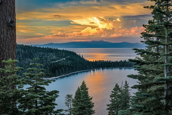 Sunset Storm over Emerald Bay