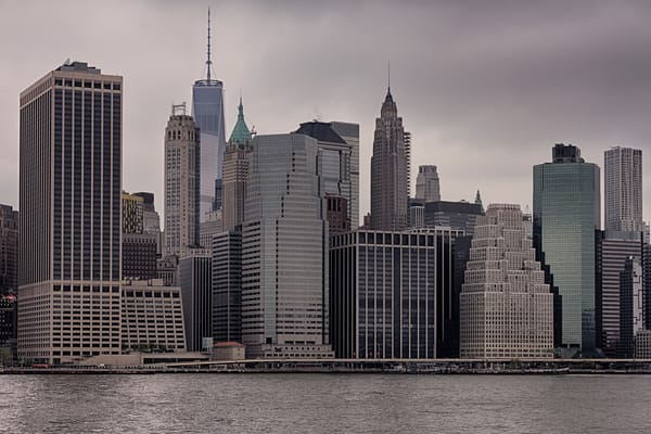 Fine Art Photograph of a Cloudy Manhattan by Michael Pucciarelli