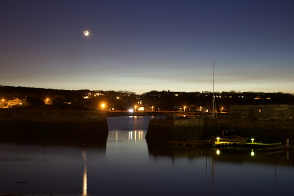 Rockport, Sickle Moon, Night
