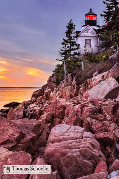 Images of nautical scenes.The Bass Harbor Lighthouse Acadia National Park Maine.
