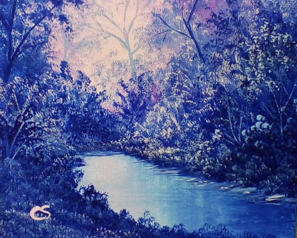 Indigo Spring by Colleen Stevens an American painter.