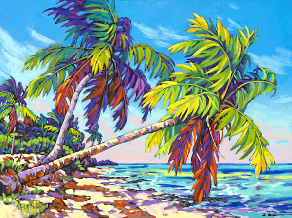 Swaying Palms | Sally C. Evans Fine Art