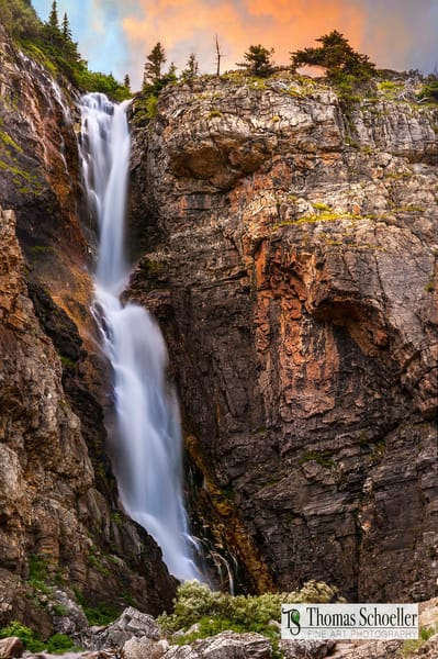 Montana's stunning Apikuni Falls as fine art home decor prints
